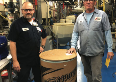 Molder sees 75% reduction in purge compound consumption with Dyna-Purge® D2.